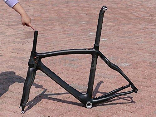 yuanxingbike 308# Toray Carbon Frameset Full Carbon 3K Matt Road Bike BSA Frame 50cm Fork Seatpost Headset Morsetto