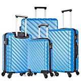 Apelila 4 Piece Luggage Sets,Travel Suitcase...