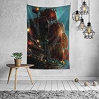 Vensaths 帆船の絵 タペストリー 壁掛け インテリア 多機能壁掛け ファブリック装飾用品 模様替え 部屋 窓カーテン 個性ギフト 新居祝い 152cmx102cm