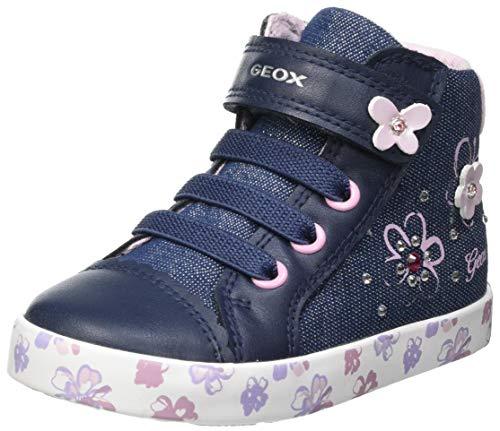 Geox B Kilwi Girl C, Baskets, Bleu (Avio/Pink), 23 EU