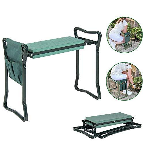 LANGYINH Folding Garden Kneeler Seat Draagbare Tuinbank met 3 Gratis Tool Pouches EVA Foam Pad,Beschermt uw knieën, Kleding Van Vuil & Gras Vlekken