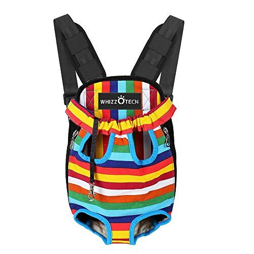 Whizzotech Pet Carrier Backpack, Rainbow, Medium