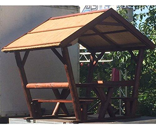 Pavillon Überdacht Sitzgruppe Mit Ca. 200X176Cm Und Eine Höhe Von 237Cm - Pfosten Für Sichtschutzwände, Elementhalter, Gartenpfosten, Zaunpfosten
