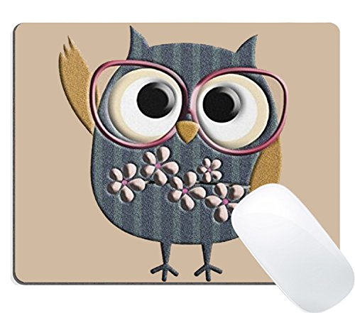 Wknoon Cute Cartoon Owl Mouse Pad Retro Personalized Design Vintage Owl Mouse Pads