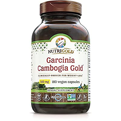 Garcinia Cambogia Extract - 100% Pure Garcinia Cambogia GOLD - 500 mg, 180 Veggie Capsules (Clinically-Proven, Multi-Patented, Water-Soluble SuperCitrimax® 60% HCA Extract for Weight-Loss)