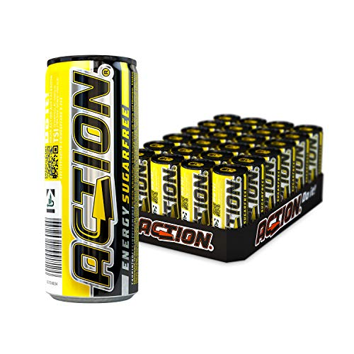 ACTION Energy Drink Sugarfree EINWEG, 24 x 250 ml, inkl. Pfand
