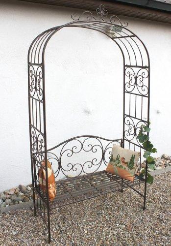 DanDiBo Rosenbogen mit Bank 120852 aus Metall 250 cm Gartenbank Spalier Pergola Kletterhilfe - 7