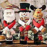 Weinflaschen-Dekoration für Weihnachten, 3 Stück,