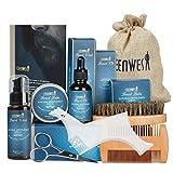 10 in 1 Beard Grooming Kit for Beard Care Unique Gifts for Men, Beard Oil, Beard Brush, Beard Comb, Beard Balm, Beard Shampoo, Beard & Mustache Scissors Shaping Tool Beard Growth & Trimming Kit