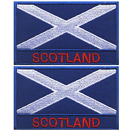 Parche de la bandera nacional de Escocia Europa País Táctico Militar Bordado Insignias Emblema Moral Apliques de Hombro Parches Accesorios de Ropa Mochila Brazalete Paquete de 2