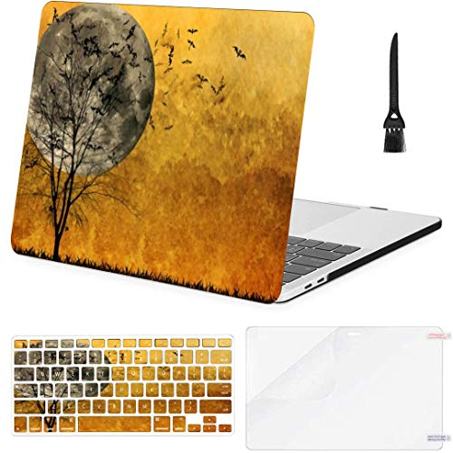 MacBook Air 13 Inch Case Halloween Background MacBook Air11 Case MacBook Pro13 Pro15 Plastic Case Keyboard Cover; Screen Protector; Keyboard Cleaning Brushush