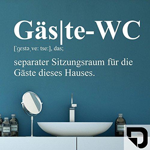 DESIGNSCAPE® Wandtattoo Gäste-WC Definition - Wandtattoo Gästetoilette 50 x 22 cm (Breite x Höhe) schwarz DW803273-S-F4