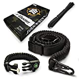R-SHOOTER 550 Paracord Rifle Sling   2 Point Traditional Gun Sling Durable & Adjustable   Ideal for Tactical Shooting, Hunting& Emergency Situations   Bonuses Survival Bracelet  10 Feet Extra Paracord