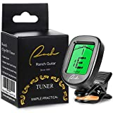 Ranch Tuner Professional Clip On for Acoustic/Electric Guitar, Ukulele, Violin, Bass, Banjo & Chromatic Tuning Modes - Classical Black