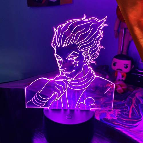 Hunter X Hunter Hisoka 3d Night Lamp Led Touch Sensor Colorful Nightlight For Children Decor Cool 3d Lamp Birthday Gift for Boy