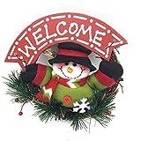 Wendy Feliz Navidad De Madera Guirnalda Decoración De La Guirnalda Puerta Colgante De Pared Santa Cl...