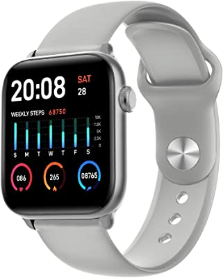 ENHANCE KW37 Full Touch Control with Bosch Pedometer, Heart Rate, Blood Pressure &SpO2 Monitor, Multi Sports an Supports Swim Tracking Premium Smart Watch