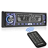 Mechless Multimedia Car Stereo - aboutBit Single Din LCD Car Radio,Bluetooth Audio Calling,Built-in...