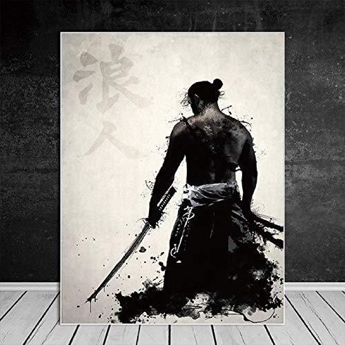 KOIJWWF Samurai Rompecabezas de Madera, Rompecabezas Juguetes intelectuales, desafiante Rompecabezas Casual para Adultos y Adolescentes -1000 Piezas