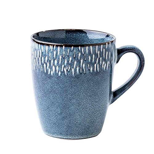 Taza de café 45 0ML Taza grande de la taza de té grande del calibre de cerámica retro europeo Café grande 15. 3 ONZAS Capuchino Latte Taza de porcelana Nórdica Ins España Copa de agua Simple Personali