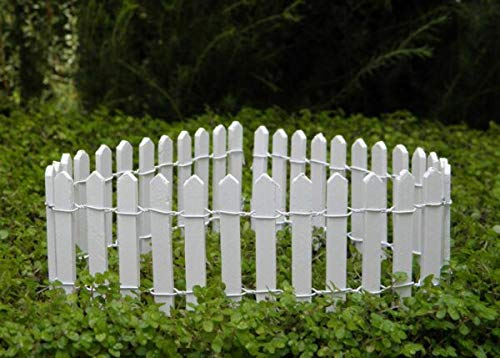 For Miniature Dollhouse Fairy Garden for home 2' x 18' White Picket Fence MALOLIK supplier DIY home & garden