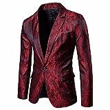 LANSKRLSP Camicia da Uomo Vintage Suit, Fascino Uomo Blazer Giacca Casual Un Bottone Fit T...