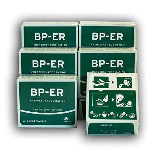 BP ER Elite Emergency Food 6 x 500 Gramm Einheiten, Camping Outdoor Vorsorge vom führenden Hersteller GC Rieber Compact aus Norwegen (Charge 2020 und Zertifikat vom Händler Lebenskraft)