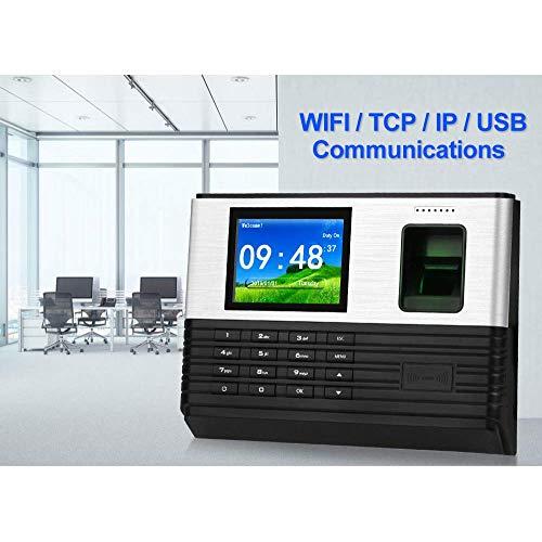 Equipo TCP/IP/WiFi 2.8 Pulgadas Biométrico Huella Dactilar Tiempo de Asistencia Máquina Tarjeta RFID Huella Dactilar Sistema de Registro de Tiempo Soporte Batería