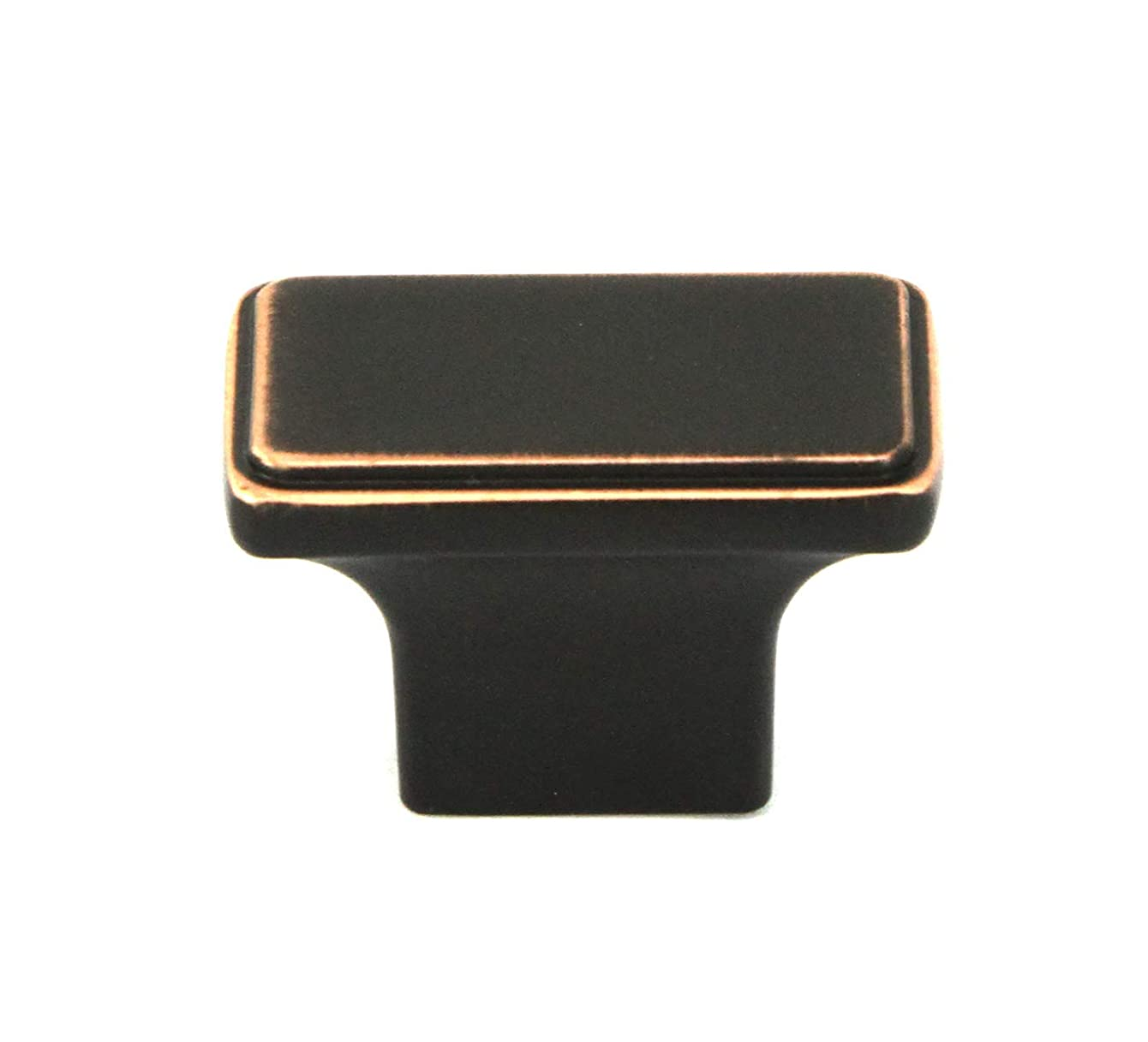 Kingsman NEPOLI Series 1-1/2 in. x 7/8 in. Solid Rectangular Cabinet Knob Handle (10, Oil Rubbed Bronze)