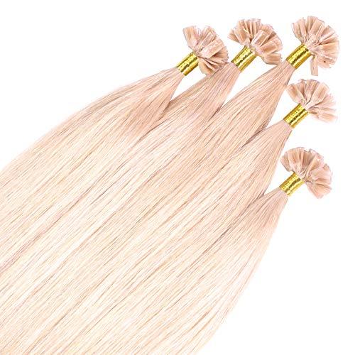 Just Beautiful Hair 100 x 0.8g extensions cheveux keratine à chaud - 50cm, couleur #20 blond cendré, lisse