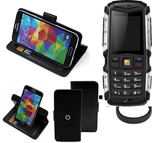 K-S-Trade® Case Schutz Hülle Für Jiayu F2 + Bumper Handyhülle Flipcase Smartphone Cover Handy Schutz Tasche Walletcase Schwarz (1x)