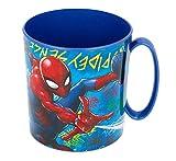 Theonoi Tasse en plastique réutilisable - 350 ml - Avengers - En plastique sans BPA - Passe au micro-ondes - Cadeau garçon (Spiderman)