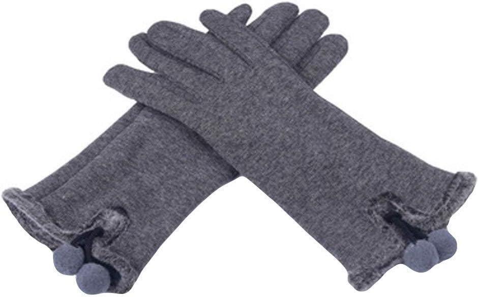 TANKKWEQ Gifts for Women Gloves Winter Gloves Gloves Women Fashion Warm Fluffy Full Finger Hand Gloves Wind Protect Hands Warm Winter Gloves (Color : C, Size : 1)