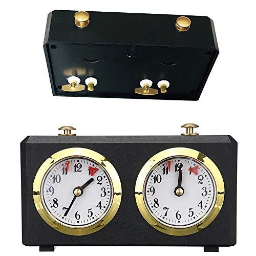 JAWSEU Reloj de Ajedrez Profesional, Reloj de Ajedrez, Reloj Analógico de Ajedrez,Temporizador...