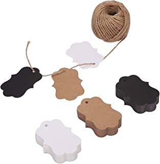150ct Kraft Gift Tags Labels with String (3 Colors) (Bracket)