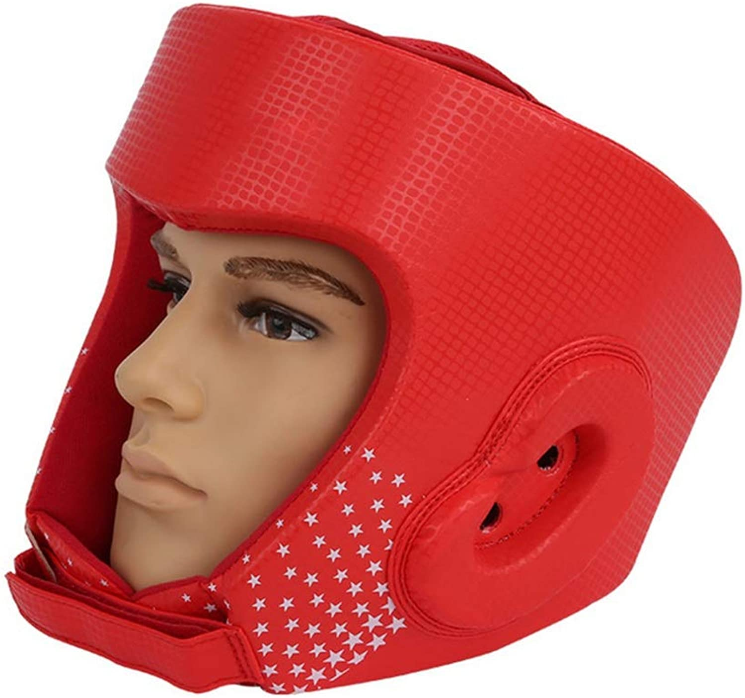 Headgear Head Guard Red color Boxing MMA Kickboxing Head Gear Boxing Helmet Head Guard Sparring Muay Thai Kick Brace Head Predection Headgear for Boxing Sparring Practice (Size   M)