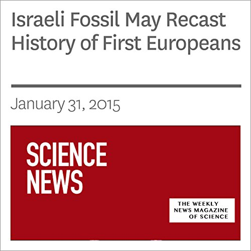 Israeli Fossil May Recast History of First Europeans audiobook cover art