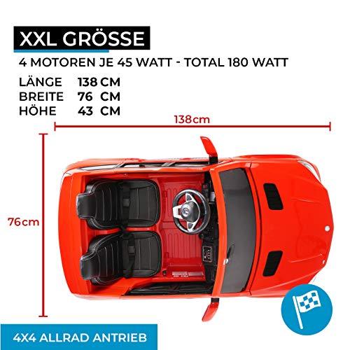 RC Auto kaufen Kinderauto Bild 3: Actionbikes Motors Kinder Elektroauto Mercedes GLS63 - Lizenziert - 4 x 45 Watt Motor - Ledersitz - Eva Vollgummireifen (Rot)*