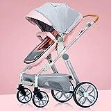 KHUY Poussette de Jogging Noir Graphite avec Console de Guidon, légère Poussette de bébé for Enfant en Bas âge Voyage, Poussette Commodité bébé (Color : Pink)