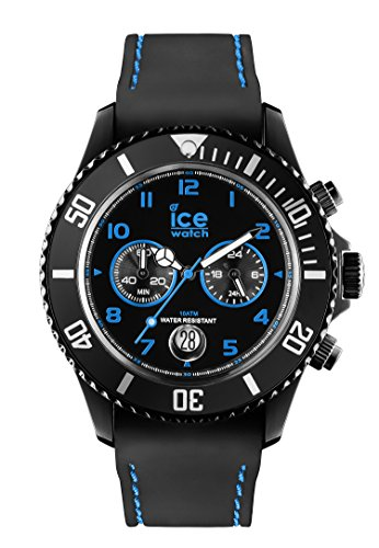Ice-Watch Herren-Armbanduhr XL Chrono Drift Blue Chronograph Quarz Silikon CH.BBE.B.S.14