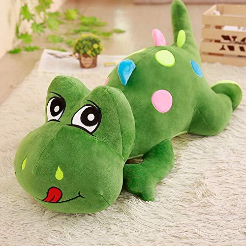 Pluche Cartoon Papa Langhalzige Drakenpop Dinosaurus Pop Kussen-legergroen_110cm