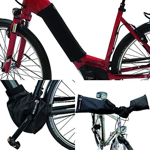 NC-17 E-Bike Schutzhüllen-Set / Akku Cover für Unterrohr / Motor Cover / Handlebar Cover / Nylon und Neopren / Schwarz