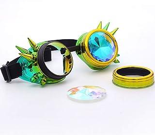 cadre noir avec trous LUOEM 4D Kaleidoscope Lunettes Rainbow lunettes de soleil pour Festivals Rave Light Show
