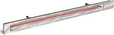 Infratech SL4028SV Slim Line - Single Element 4,000 Watt Patio Heater, Choose Finish: Stainless Steel Faceplate w/Silver Trim