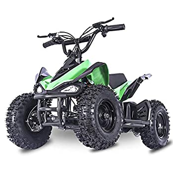 Fit Right 2020 Mars Kids 24V Mini Quad ATV Dirt Motor Electric Four Wheeler Parental Speed Control with 350W Motor Power Reserve Large Tires & Wide Suspension  Green