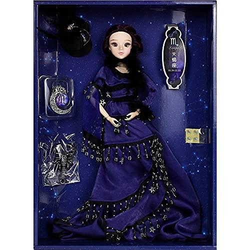 DBS MM Girl 12 Constelaciones Muñecas BJD con Zapatos de Ropa Soporte 14 Cuerpo conjuntas Adecuado para niña de Regalo de Juguete (Color : Scorpio)