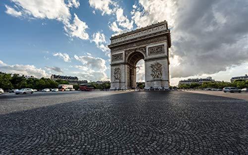 No Rompecabezas De 1000 Piezas De Madera Arco del Triunfo Francia París Cielo Nubes Arquitectura Niños Juego Arte Decoración Regalo Paisaje