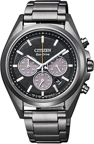 [シチズン] 腕時計 アテッサ Eco-Drive エコ・ドライブ ブラックチタンシリーズ クロノグラフ CA4394-54E メンズ