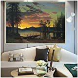sechars Albert Bierstadt 《Twilight, Lake Tahoe》