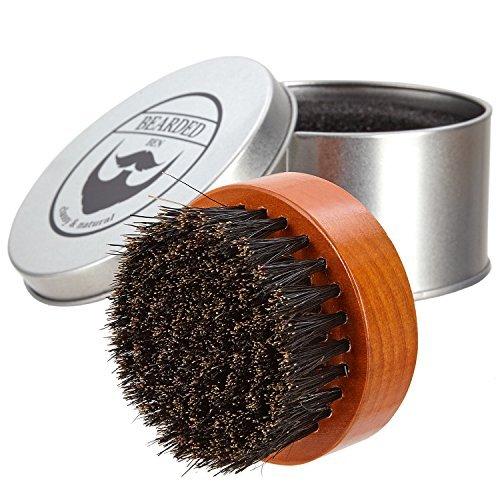 Preisvergleich Produktbild BEARDED BEN Bartbürste mit Wildschweinborsten in hochwertiger Aufbewahrungsbox / Geschenkbox,  inkl. Bartkamm,  Teakbraun